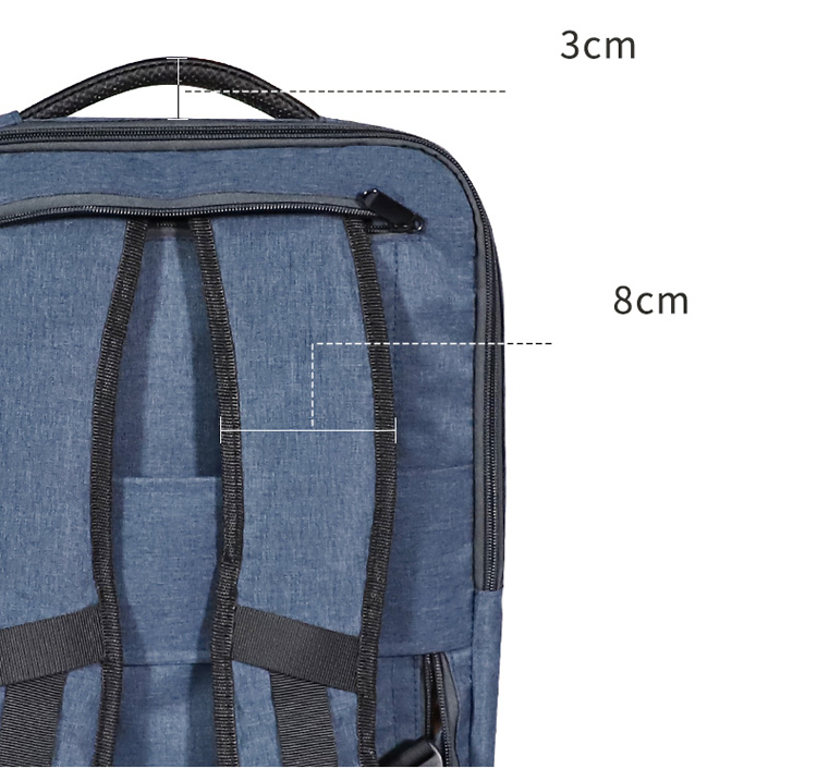 Custom 15.6 inch multifunction waterproof business travel school slim anti theft hidden zipper usb port handbag laptop backpack