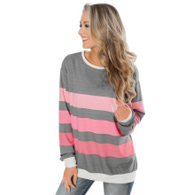 Autumn and Winter Sweater Long Sleeve Striped Pullover Top