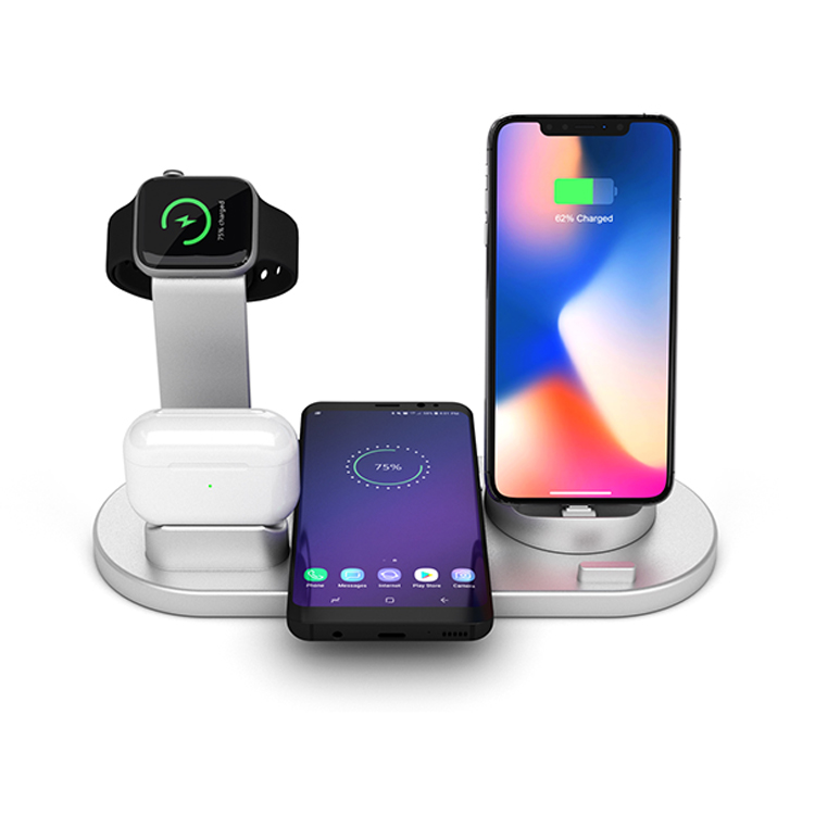 4 in 1 10W Portable Fast Wireless Charger Dock Station Fast Charging for iPhone XR XS Max 8 for Apple <strong>Watch</strong> 2 3 4 for AirPods