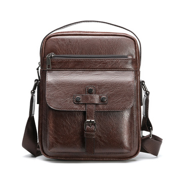 New design retro casual shoulder bags vertical large capacity messenger bag