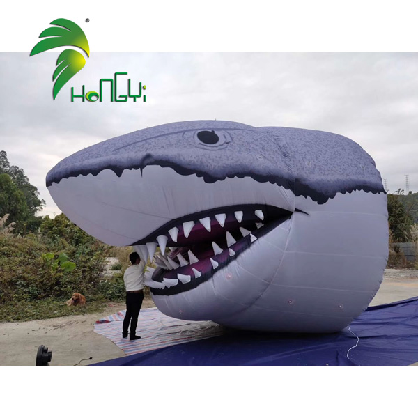 Outdoor decoration inflatable shark model , giant inflatable shark head for advertising