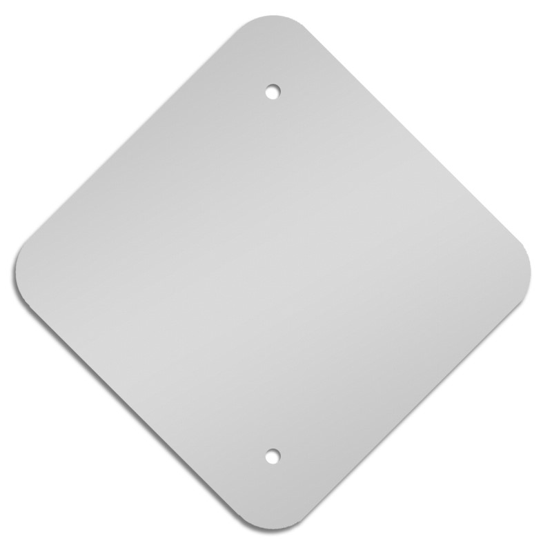 Custom shape <strong>aluminum</strong> blank for signage
