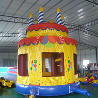 Birthday cake children outdoor inflatable bouncer /inflatable bounce round with high quality