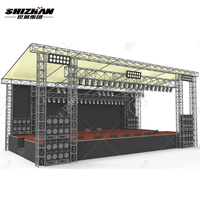 outdoor indoor railway double truss hanger performance aluminum studio stage truss square tower