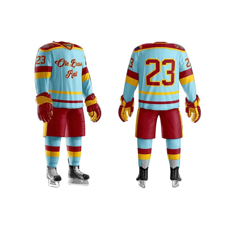 Custom 100% Polyester Custom Logo Reversible Ice Hockey Jersey Wholesale