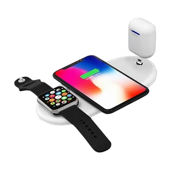 wireless fast charging wholesale new arrivals 2020 mobile phone wireless charging for apple/iPhone watch earphone charger 3 in 1