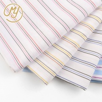 High Quality Blue Woven Yarn Dyed Stripe Shirt Material Poplin Tc Fabric