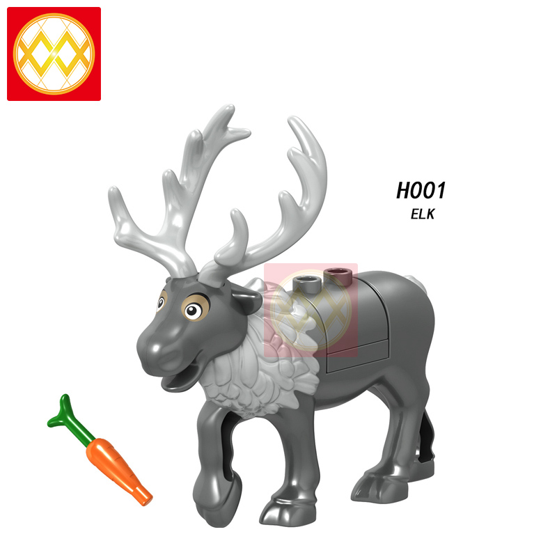 <strong>H001</strong> Christmas Animal Series Elk Reindeer Assembled Building Blocks Were Accessories Bag Hot Sales Can Be Mixed Batch Kids Toys