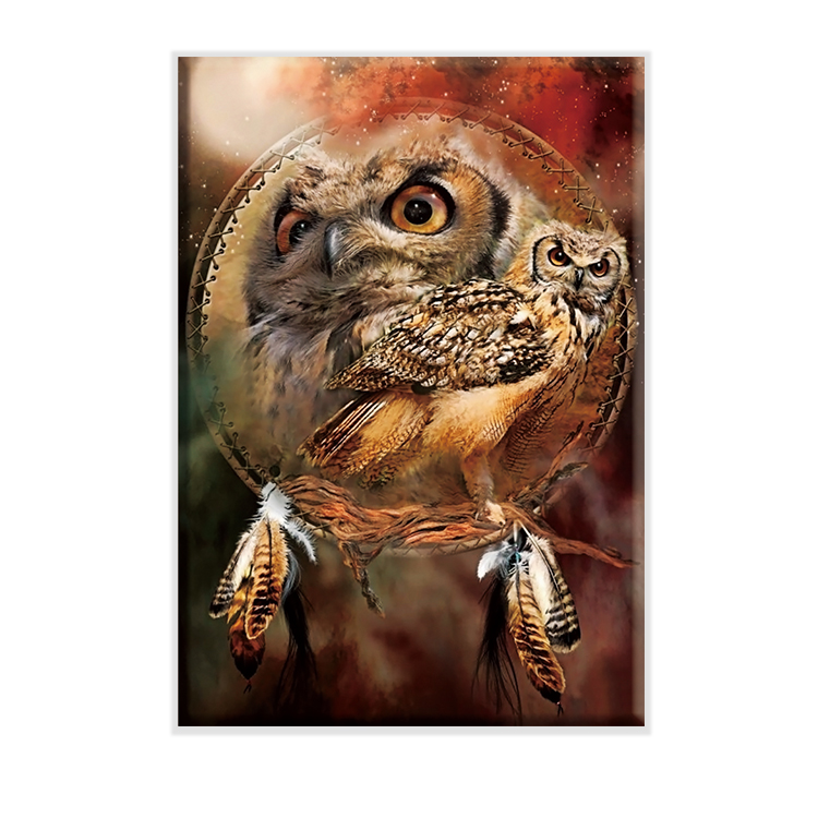 Animal colorful cross stitch kit embroidery handicraft indoor home decoration painting owl 7 cross stitch