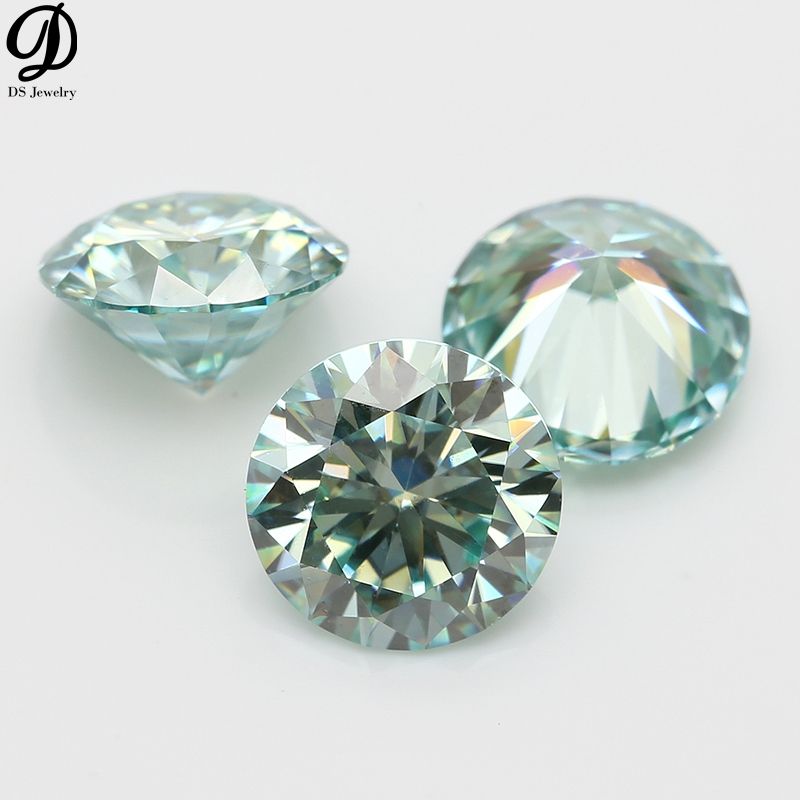 Wholesale excellent <strong>cut</strong> Round light blue moissanite