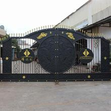 2018 latest powder <strong>coating</strong> ornamental sliding gate design
