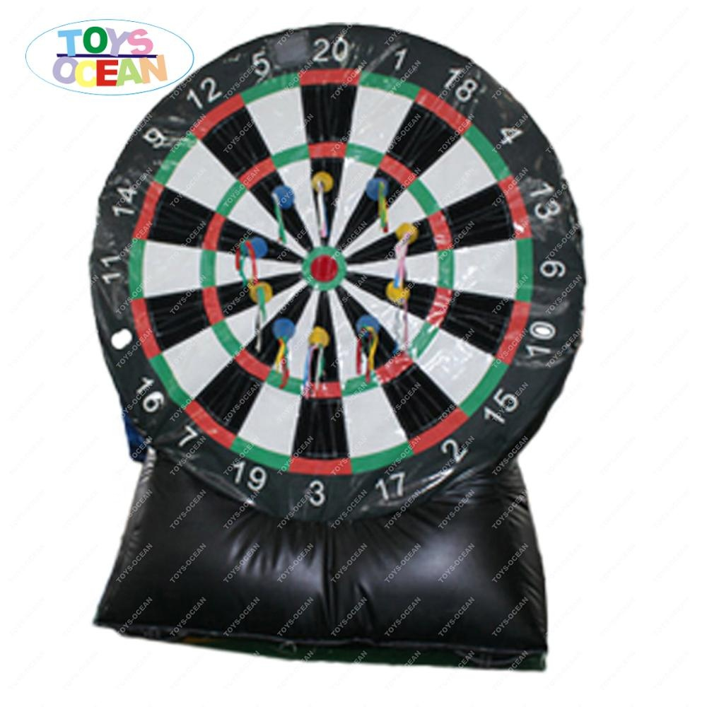 Funny inflatable soccer dart, adult inflatable dart game, inflatable football toss games factory direct
