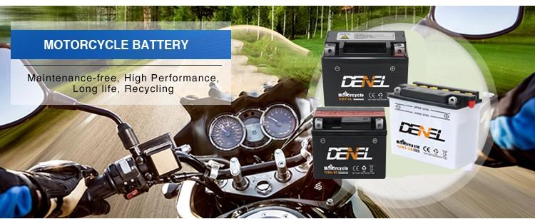 YB4 Motorcycle Battery-12V Lead Acid Moto Battery-12V4Ah  Motorcycle Battery Factory