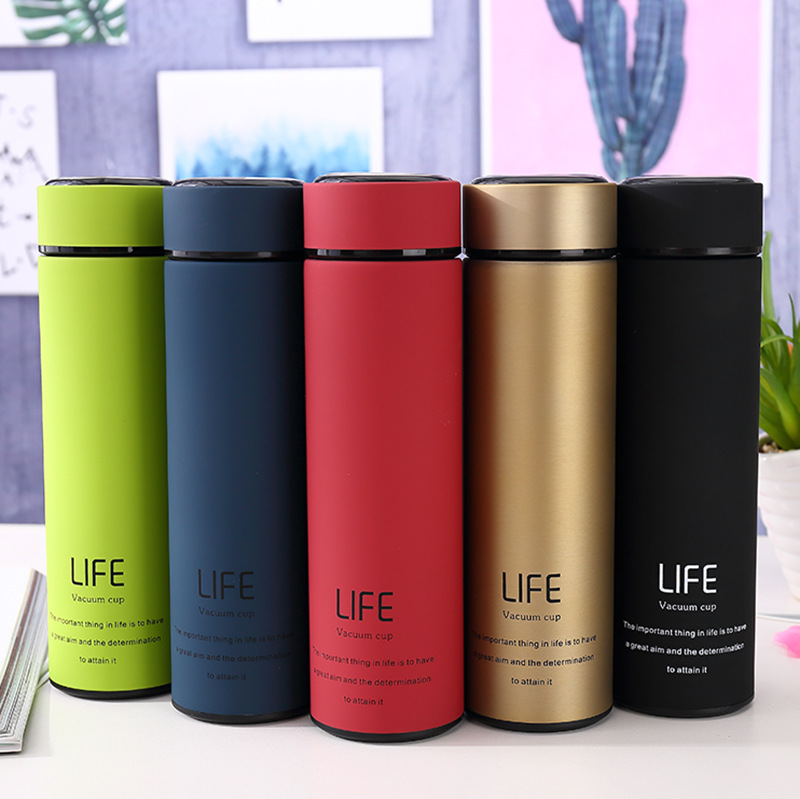 Seaygift personalized customized 500ml portable infuser water <strong>bottle</strong> 304 steel metal hot water <strong>bottle</strong> for travel/official