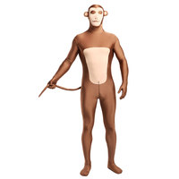 Fullbody Spandex Animal Zentai Suit Light Brown Monkey