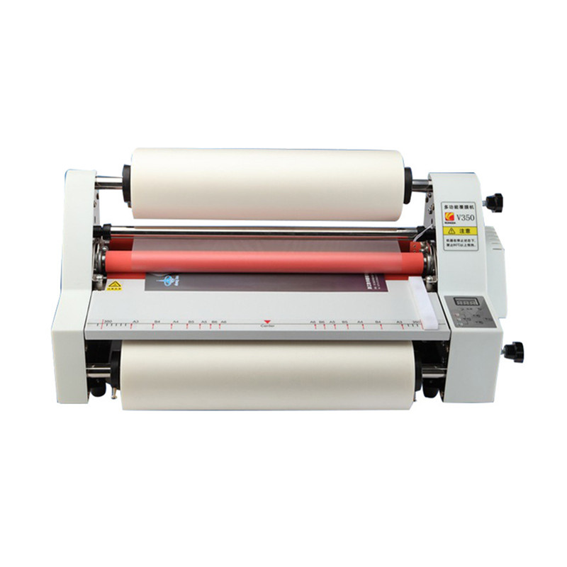 350mm Thin Film Laminating Machine For <strong>Paper</strong>, Professional Roller Laminator Machine