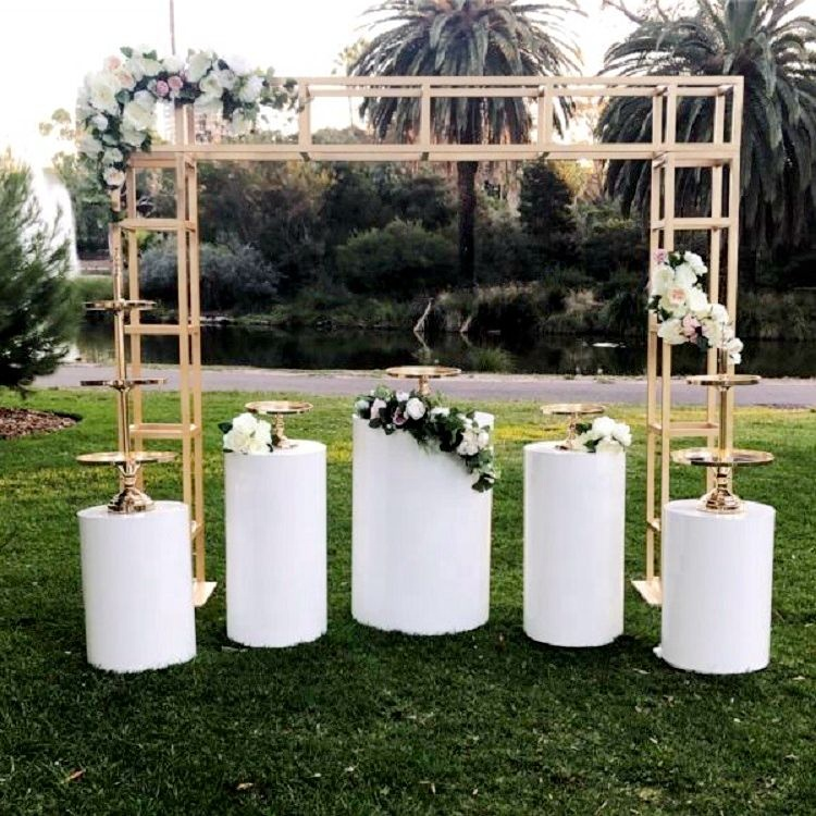 Acrylic columns Dessert table Round Pedestal white Cake Rylinder pillar wedding plinth for marriage party wedding decoration