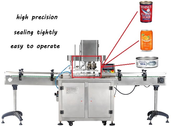 30-50cans/min sealer machine for can