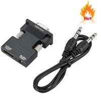 HDMI TO VGA cable High Quality Vga hdmi Converter with Audio Adapter