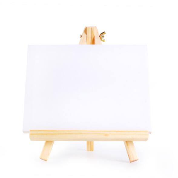 Wholesale DIY Blank Board Mini Easel Stand Rack Wooden Easel