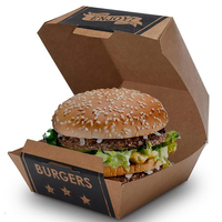 Factory Wholesale OEM paper burger box