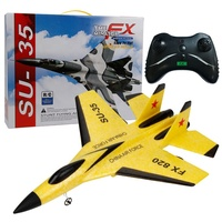 RC Plane Toy EPP Craft Foam Electric Outdoor RTF Radio Remote Control SU-35 Tail Pusher Quadcopter Glider Airplane Model for Boy