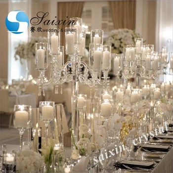 Gorgeous  crystal centrepieces weddings 9 arms chandelier candelabra