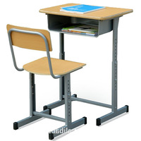 Wholesale Plywood Seat Back Modern Cheap School Desk And Chair Single Set