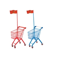 Metal Custom Color Mini Hand Push Shopping Trolley Carts For Children Used in Supermarket