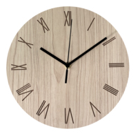 10 Inch Silent Non-Ticking Wood Grain Wooden Wall Clocks