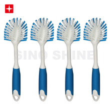 High Quality Kitchen Scrub <strong>brushes</strong> to wash and clean Dish Pots Pan Sink and Bathroom with Comfortable Long Handle