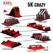 Commercial Event Insane inflatable 5k/ Crazy adult inflatable obstacle course races