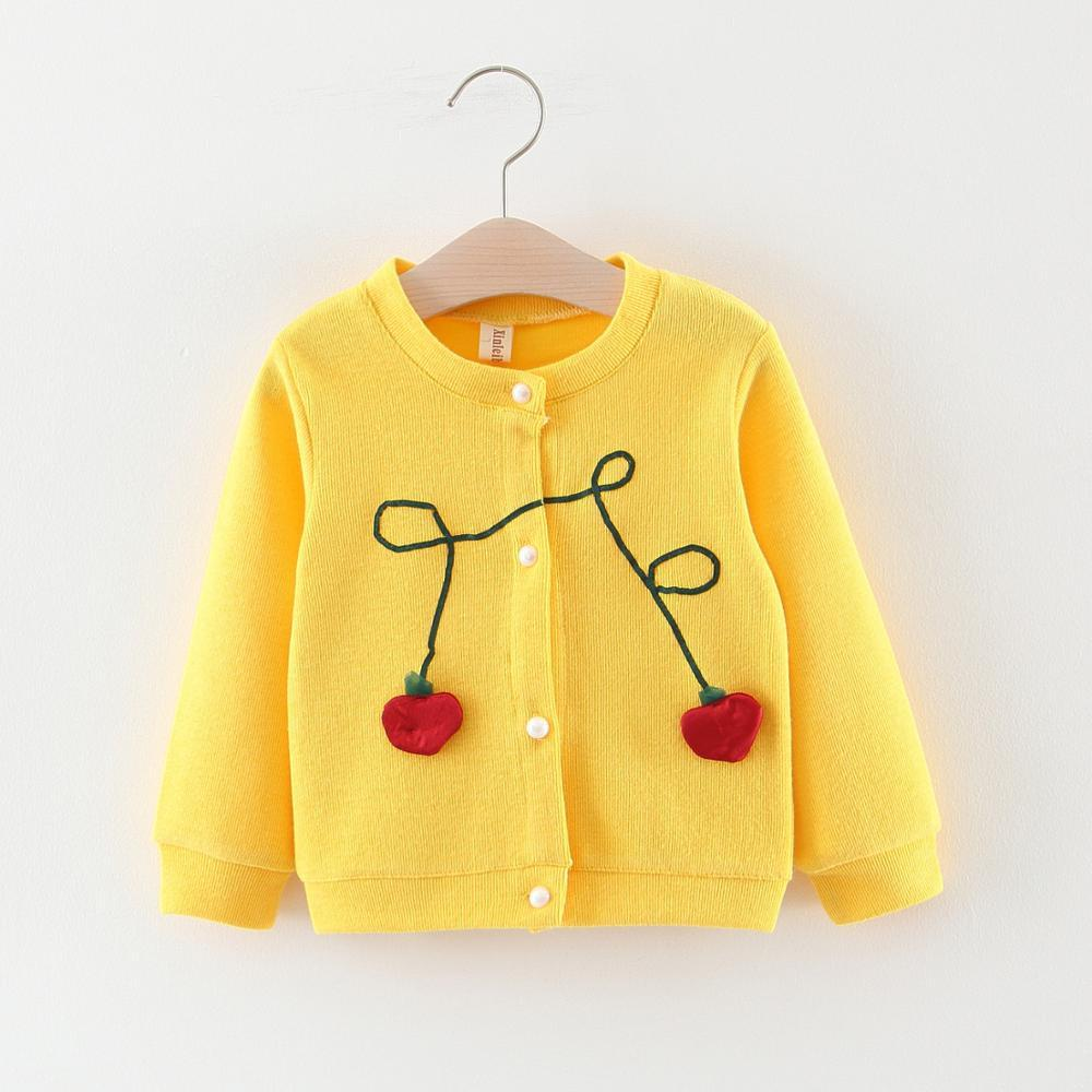 kids cardigan <strong>coats</strong> fall cotton printed apple kids outwear girls fashion cardigan