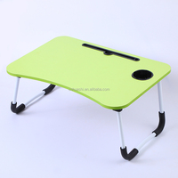 Wooden Bed Laptop Table Foldable Laptop Desk Portable Folding Computer Table