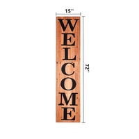 Farmhouse Style Vertical Wooden Welcome Sign wholesale wooden signs