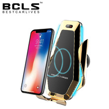 magnetic led lamp gravity bike bicycle motorcycle cell ring car mobile <strong>phone</strong> <strong>holder</strong> with wireless charger