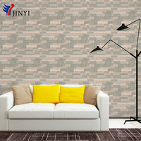 Classic Designed Light Brown Bricks Self adhesive Wallpaper Water-proof Home Decorative PVC Peel and Stick Wallpaper