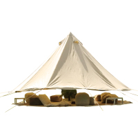 Heavy duty canvas army tent military canvas bell tent with stove hole