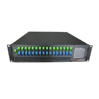 High Power GPON Fiber 16 ports 1550nm CATV WDM EDFA optical Amplifier price