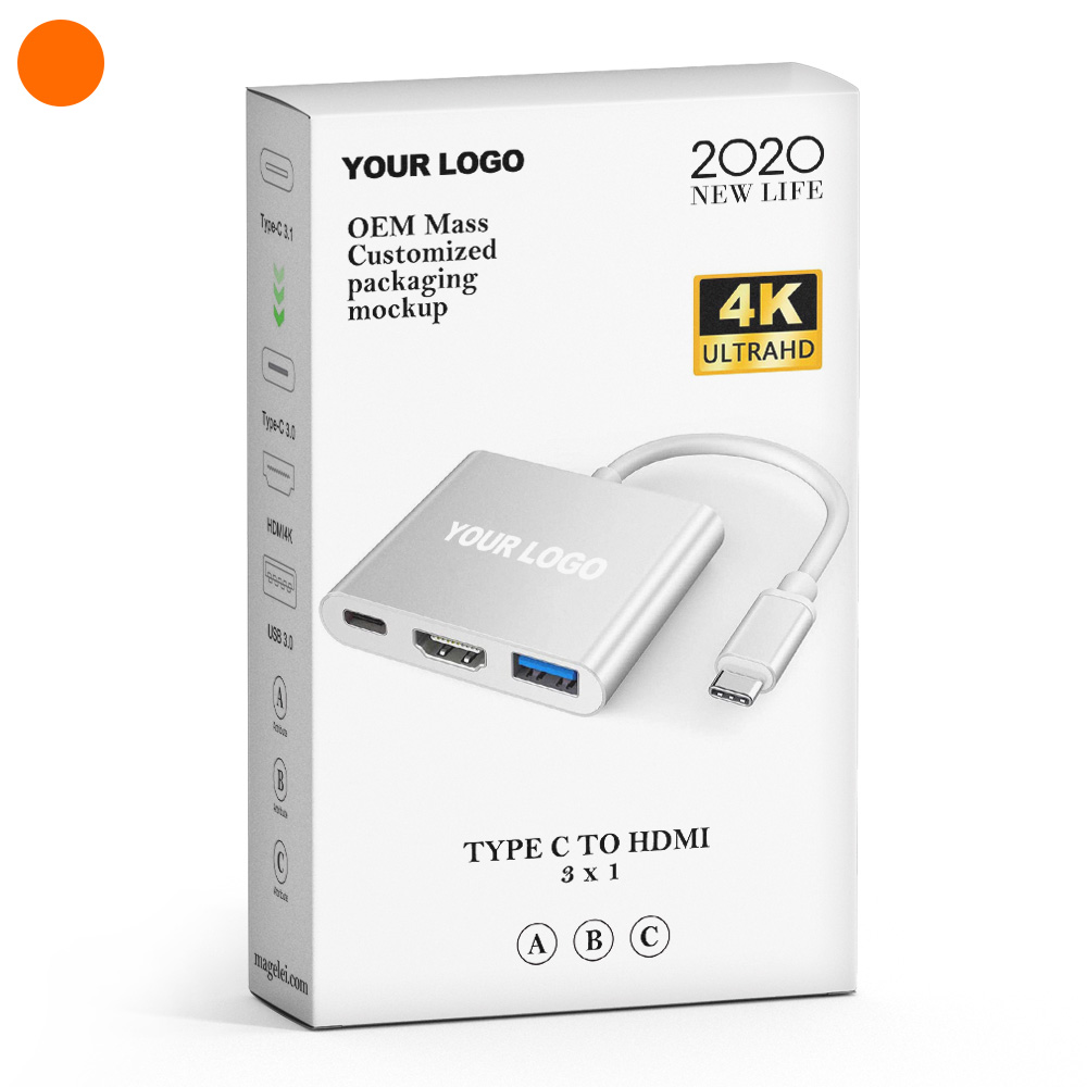 High Speed 3 in 1 USB Type <strong>C</strong> HUB to <strong>1080P</strong> 4K HDMI Converter Adapter Cable PD charging USB 3 in 1 USB <strong>C</strong> HUB to HDMI