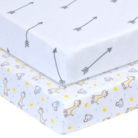 Custom Designs Elastic Fitted Sheet Standard Organic 100% Cotton Fitted Crib Sheet