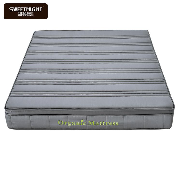 Wholesale cheap organic cotton natural wool deluxe king size spring mattress - Jozy Mattress   Jozy.net