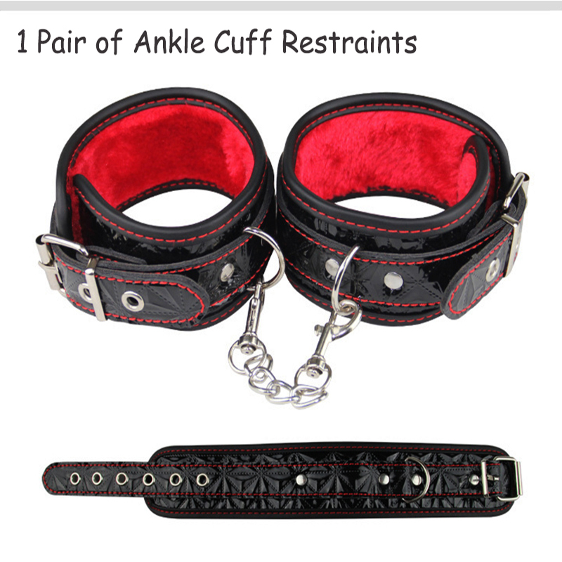 Bdsm Sex Toys for Woman Men Couples Nipple Clamps Gay Fetish Mask Leather Hand Cuffs Whip Lingerie Collar Rope Bondage Set 10pcs