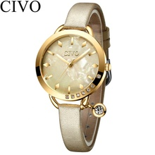 <strong>HOT</strong> !CIVO ladies branded women watches jam tangan japan movt quartz watch stainless steel water resistant luxury wristwatch