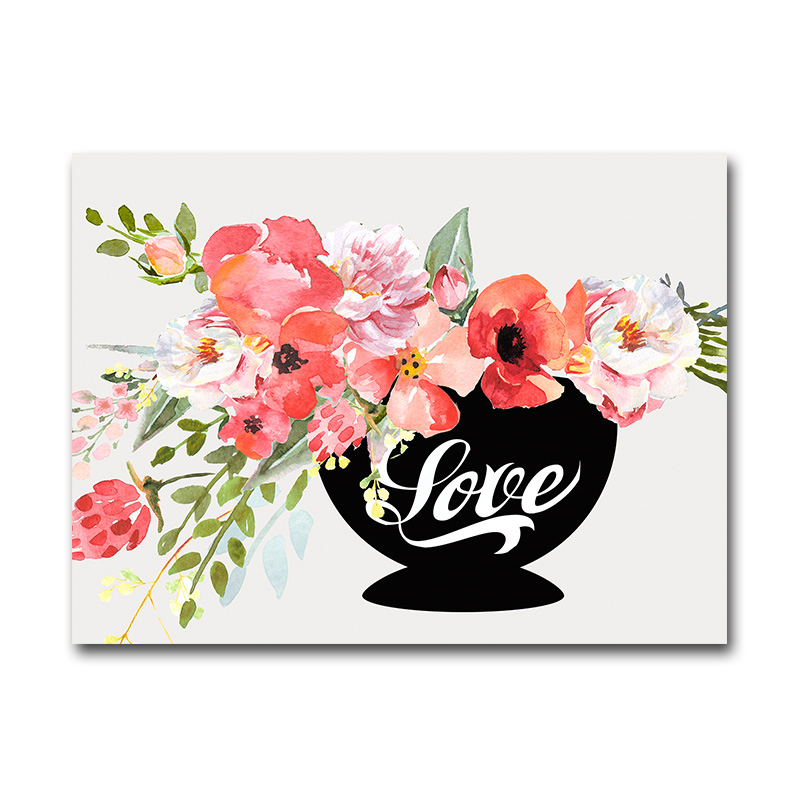 Wholesale Handmade Flowers in A Cup Oil Painting Wall Art Pictures for Hotels
