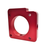 CNC machining high quality Torque Solution Throttle Body Spacer Red