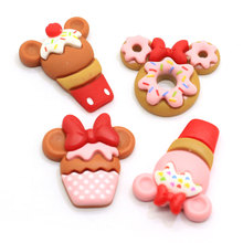 Kawaii Mini Food Resin Cabochon Flatback Mouse Cake DIY Scrapbooking Embellishment Decoration Craft For <strong>Fridge</strong> Sticker Key Chain