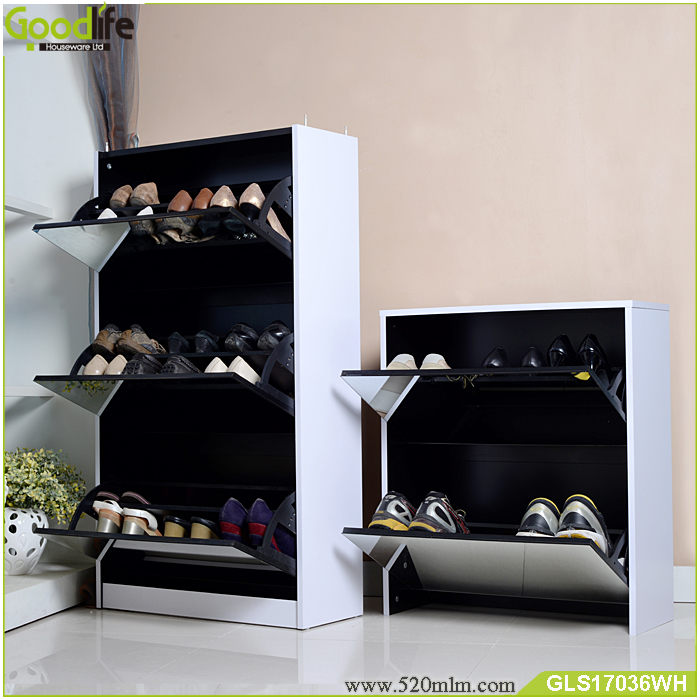 3+2 luxury wooden shoe cabinet two in one