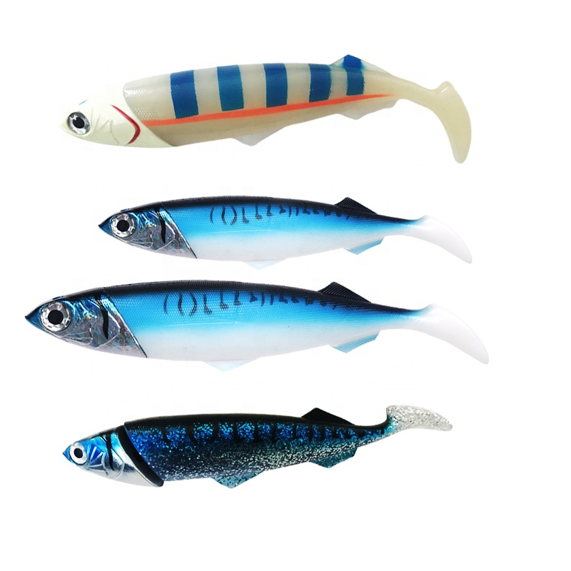 26cm/33cm Ocean Boat Sea <strong>Fishing</strong> large Simulate Artificial Baits rubber mackerel soft plastic jig heads Soft <strong>Fishing</strong> Lure
