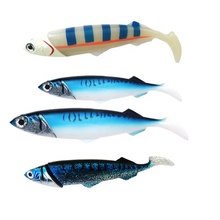 26cm/33cm Ocean Boat Sea Fishing large Simulate Artificial Baits rubber mackerel soft plastic jig heads Soft Fishing Lure